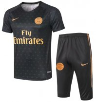 Paris Saint-Germain 19/20 Training Jersey and Short Kit - Black
