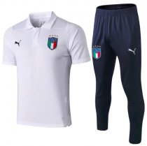 Italy 2019 Training Polo and Pants - White