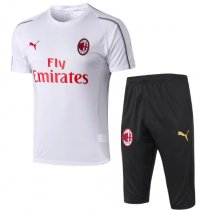 AC Milan 18/19 Training Jersey and Short Kit - White
