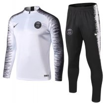 Paris Saint-Germain 18/19 Soccer Training Top and Pants - White
