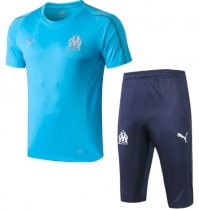 Olympique Marseille 18/19 Training Jersey and Short Kit - Blue