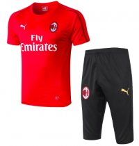 AC Milan 18/19 Training Jersey and Short Kit - Red