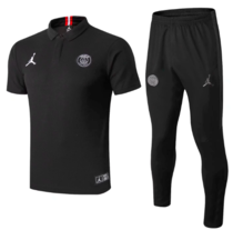 Paris Saint-Germain 19/20 Polo and Pants - Black