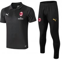AC Milan 18/19 Polo and Pants - Black