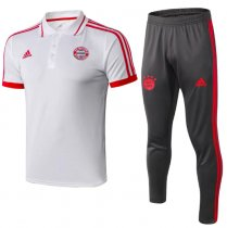 Bayern Munich 19/20 Training Polo and Pants - White