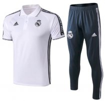 Real Madrid 19/20 Training Polo and Pants - White