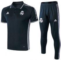 Real Madrid 19/20 Training Polo and Pants - Dark Blue