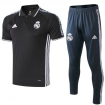 Real Madrid 19/20 Training Polo and Pants - Black