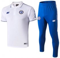 Chelsea 19/20 Polo and Pants - White