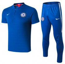 Chelsea 18/19 Polo and Pants - Blue