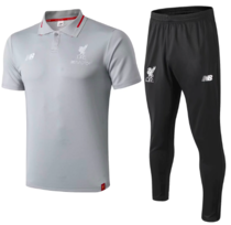 Liverpool 18/19 Polo and Pants - Grey