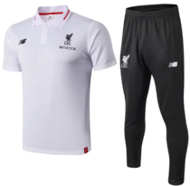 Liverpool 18/19 Polo and Pants - White