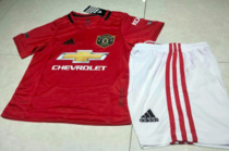 Manchester United 19/20 Kids Home Soccer Jersey and Short Kit