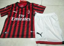 AC Milan 19/20 Kids Home Soccer Jersey and Short Kit