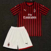 AC Milan 19/20 Home Soccer Jersey and Short Kit