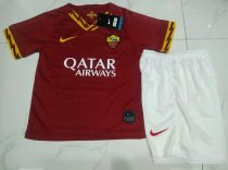 AS Roma 19/20 Kids Home Soccer Jersey and Short Kit