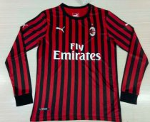 Thai Version AC Milan 19/20 LS Home Soccer Jersey