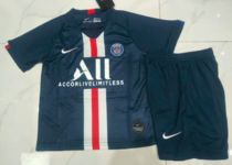 Paris Saint-Germain 19/20 Kids Home Soccer Jersey and Short Kit