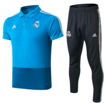Real Madrid 18/19 Training Polo and Pants - Blue