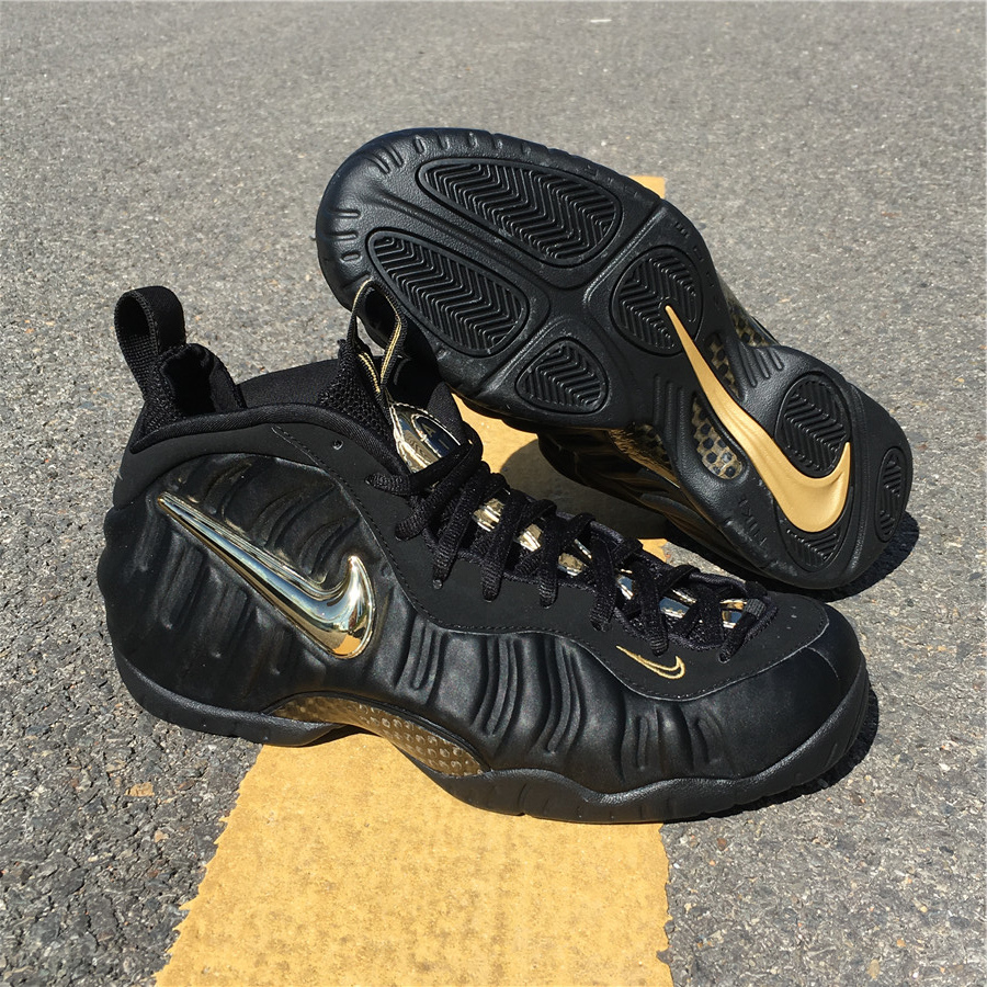 "sports shoes 65f72 9807f Nike Air Foamposite Pro ""Black Metallic Gold"" size 8-12"