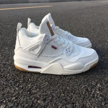 "Levis x Air Jordan 4 ""White"" women size 4Y-7Y"