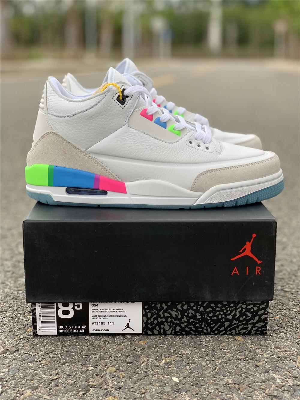 """b7757b1844e Air Jordan 3 """"Quai 54"""" white men size 7-13 Item NO: AT9195-111"""