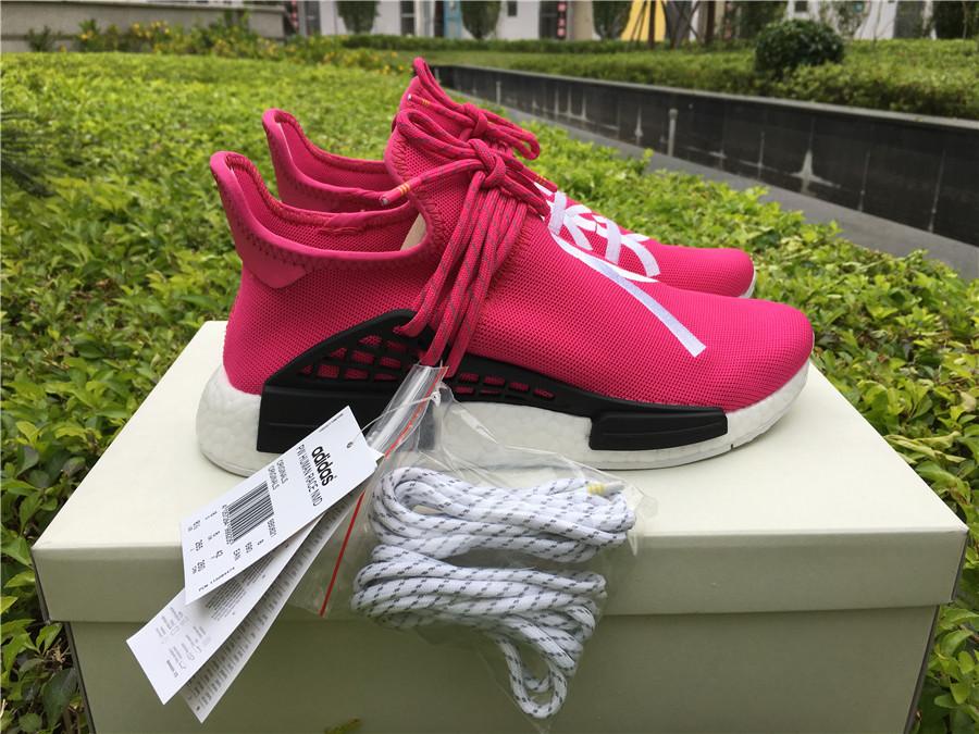 "c8e0b1c4896d6 Pharrell × adidas NMD Human Race ""Shock Pink"" size 5-12 Item NO  BB0621"
