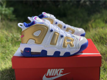 Nike Air More Uptempo white women size 4Y-7Y
