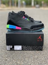 Air Jordan 3 Quai 54 black size 5-13