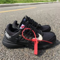 OFF WHITE Nike Presto all black women size 5-8