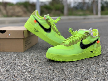"OFF-WHITE x Nike Air Force 1 ""Volt"" size 7-11"