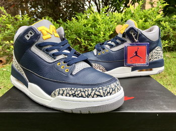 "Air Jordan 3 ""Michigan"" P size 7-13"