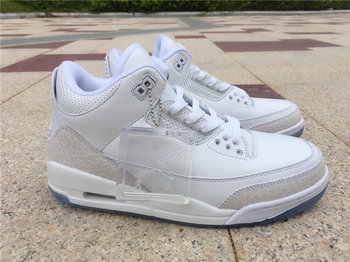 "Air Jordan 3 ""Pure White"" size 7-13"