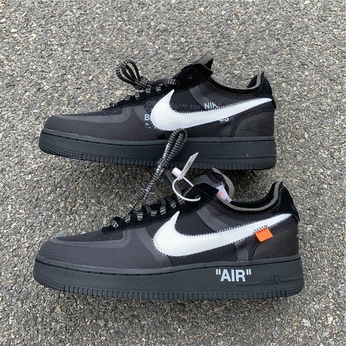 Off White Nike Air Force 1 Low Black White