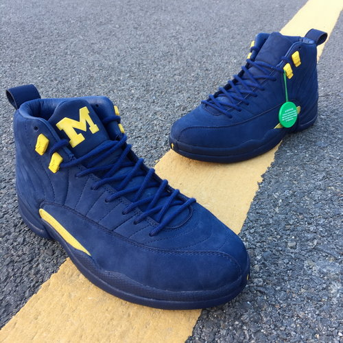 "new product f9c69 dd4a6 Air Jordan 12 ""Michigan"" size 7.5-13"