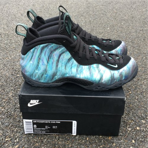 """huge selection of fdb1a 1ebe7 Nike Air Foamposite One PRM """"Abalone"""" size 8-12"""