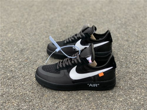low priced a1c98 37b43 Off-White Nike Air Force 1 Low Black SIZE 5.5-12