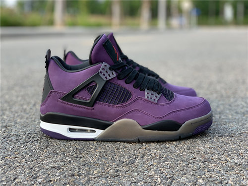 brand new f0437 7f864 Travis Scott x Air Jordan 4 Purple Suede