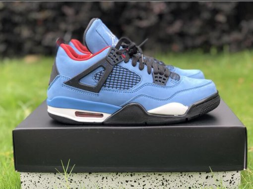 "Travis Scott x Air Jordan 4 ""Houston Oilers"" size 7-13"