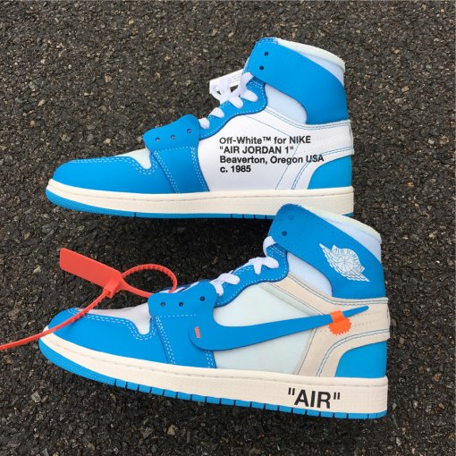 "OFF-WHITE x Air Jordan 1 ""Powder Blue"" size 7-13"