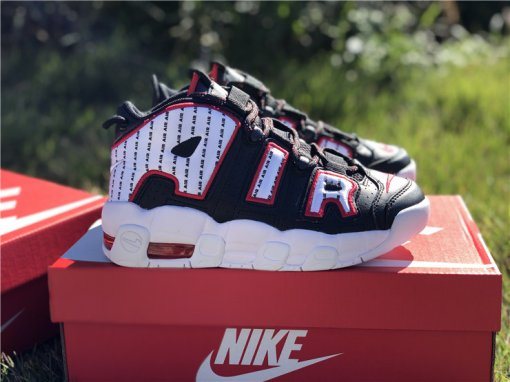Nike Air More Uptempo white black size 5-12