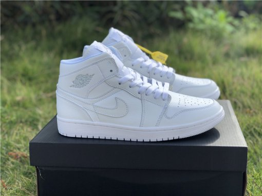 Air Jordan 1 MID pure white men size 7-12