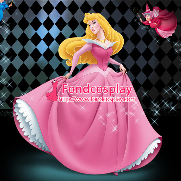 Sleeping Beauty Princess Aurora Dress Movie Cosplay Costume  Custom,Made[G1014]