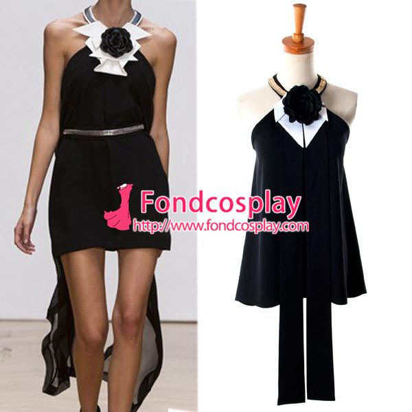Us 98 9 Black Sass Bide Style Backless Flower Top Shirt Cosplay Costume Custom Made G938 M Fondcosplay Com