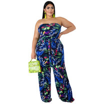 European and American fashionable sexy printed Jumpsuit