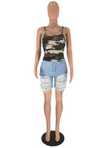 Sexy camouflage sling Vest Top