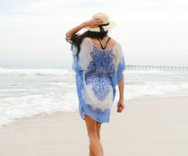 Chiffon positioning print Holiday Beach skirt
