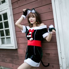 Christmas Costume(Headwear+Dress+glove+belt)