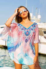 Printed blouse beach dress
