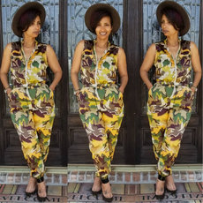 Camouflage printing fashionable outdoor leisure Jumpsuit